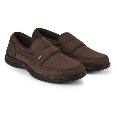 Gliders Mens Casual Brown Non Lacing Walking Shoes (3070-27NEW) Gliders