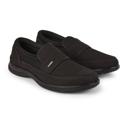 Gliders Mens Casual Black Non Lacing Walking Shoes (3070-27NEW) Gliders