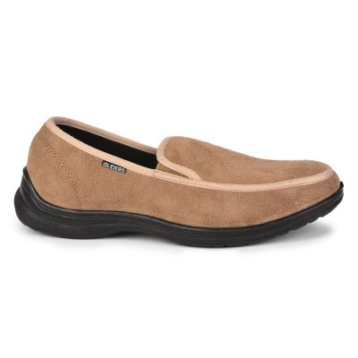 Gliders Mens Casual Beige Non Lacing Walking Shoes (3070-65NEW) Gliders