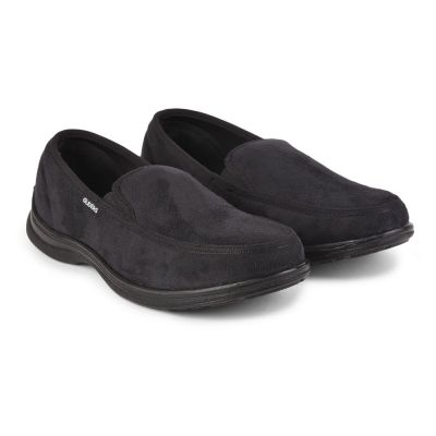 Gliders Mens Casual Black Non Lacing Walking Shoes (3070-65NEW) Gliders