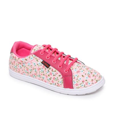 Gliders Women's Pink Casual Lacing Gliders