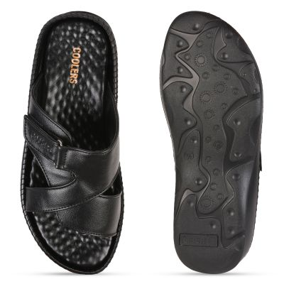 Coolers Black Casual Slippers For Mens (AGK-555 ) Coolers