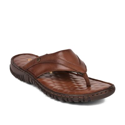 Coolers Mens Tan Casual Thong Slippers (AMOS-165 ) Coolers
