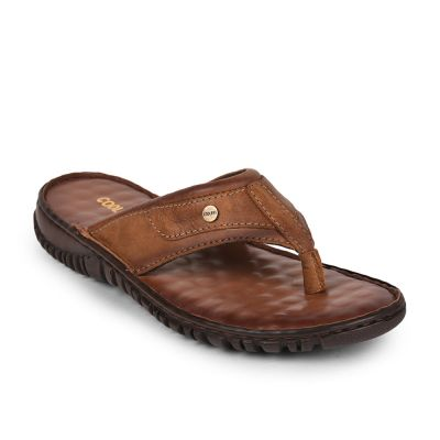 Coolers Mens Tan Formal Thong Slippers (AMOS-167 ) Coolers