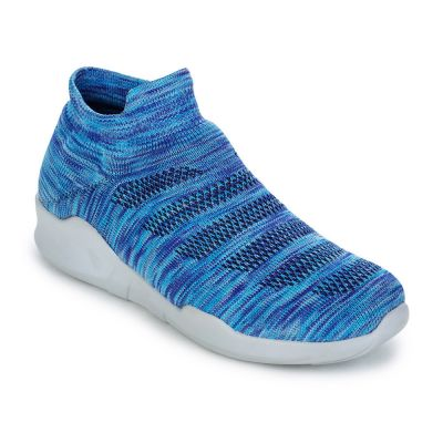 Force 10 Women's S.Blue Sporty Casual Non Lacing Force 10