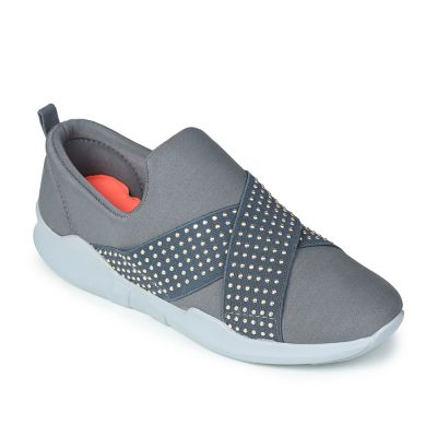 Force 10 By Liberty Womens Casual Slip On Loafer - Grey (AVILA-31) Force 10