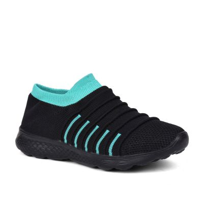 Force 10 Womens Black Sports Non Lacing Walking Shoes (BING  ) Force 10