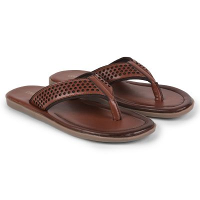 Coolers Tan Casual Flip Flop Slippers For Mens (COLE-1E ) Coolers