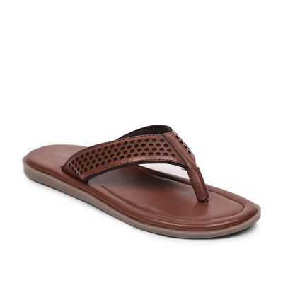 Coolers By Liberty Tan Flip Flop Slippers For Mens (COLE) Coolers