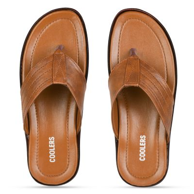 Coolers Tan Formal Flip Flop Slippers For Mens (COOL99-120) Coolers