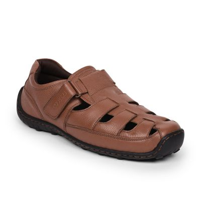 Coolers By Liberty Tan Formal Office Sandals For Mens (CURTIS-1E ) Coolers