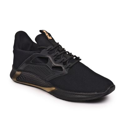 Leap7X By Liberty Black Sports Running Shoes For Mens (DARVIN) LEAP7X