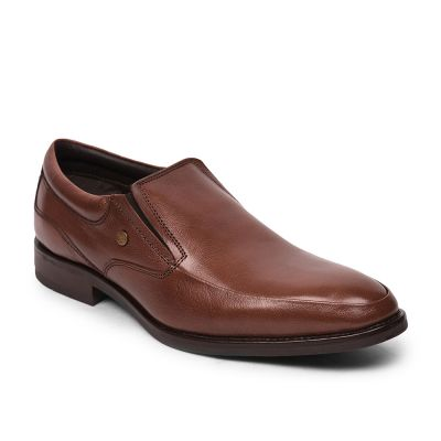 Fortune By Liberty Brown Slip On Formal Shoes For Mens (DTL-16) Fortune
