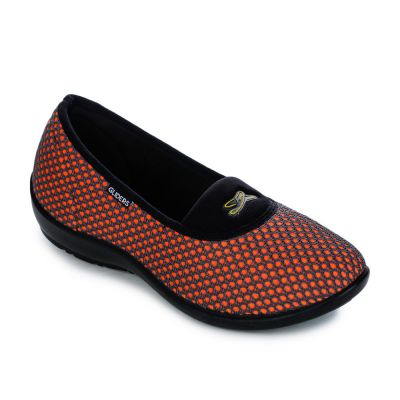Gliders Women's Orange Casual Ballerina Gliders
