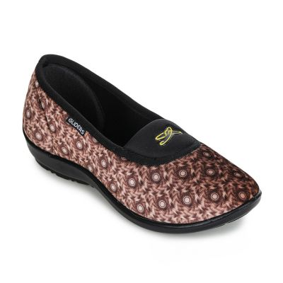 Gliders Women's Brown Ballerina (Elena-113) Gliders