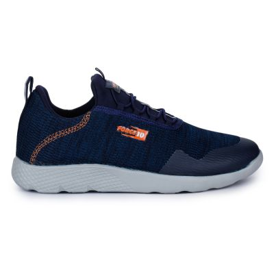 Force 10 Men's Lace-Up Jogging Sports Shoes (N.Blue) Eliote-3E By Liberty Force 10