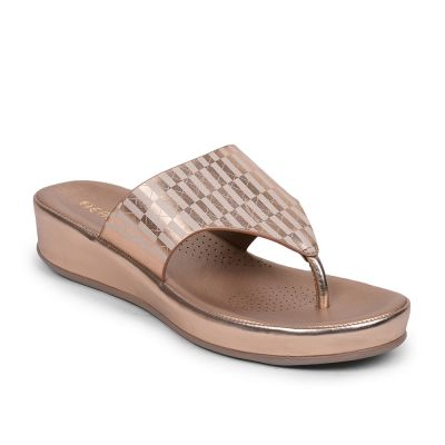 Healers By Liberty Peach Flip Flop Slippers For Womens (GF-07 ) Healers