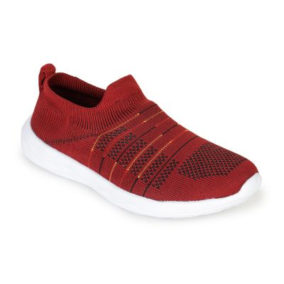Force 10 Women's Maroon Non Lacing (Godfree) Force 10