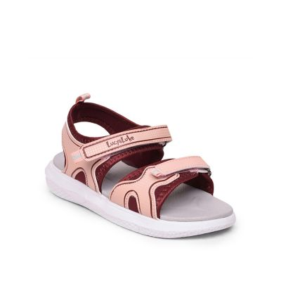 Lucy & Luke By Liberty Peach Casual Sandals For Kids (HIPPO-21) Lucy & Luke