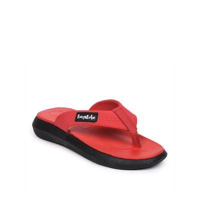 Lucy & Luke By Liberty Red Flip Flop Slippers For Kids (HIPPO-40) Lucy & Luke