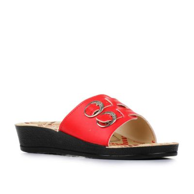 A-Ha Women's Red Casual Slippers (2002-40) No
