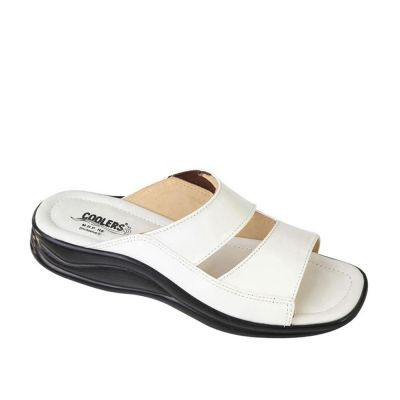 Coolers Men's White Formal Slippers (2013-10) No