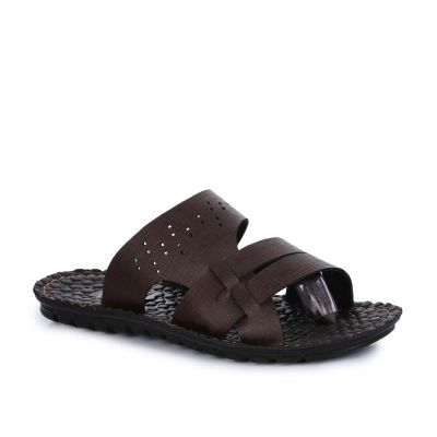 A-Ha Men's Brown Casual Slippers (2137-19) No