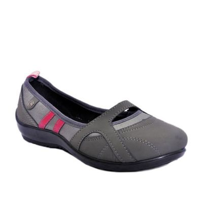 Gliders Women's Grey Casual Ballerina (2151-235) No
