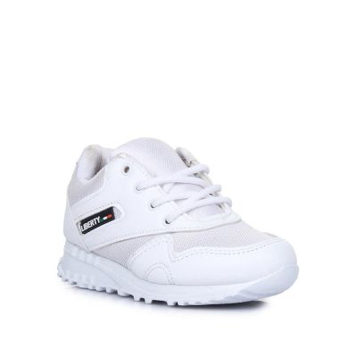 Force 10 Kids White School Lacing (9906-90GN) No
