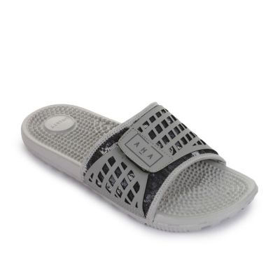 A-Ha Men's Grey Bin Slippers (ADAM-4) No