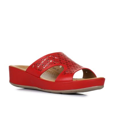 Healers Women's Red Fashion Slippers (BMT-4) No