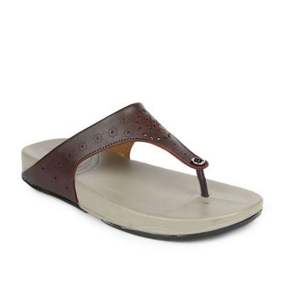 Gliders Women's Brown Casual Thong (DIVA-L1A) Gliders