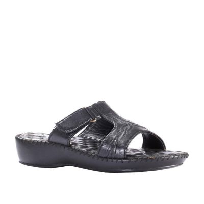 Healers Women's Black Comfort Slippers (DR-526) No