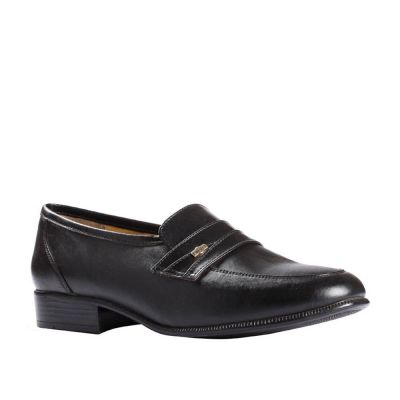 Fortune Men's Black Formal Non Lacing (ENCON) Fortune