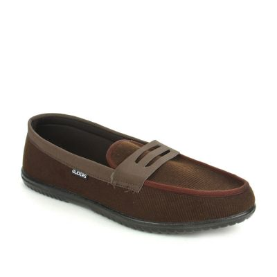 Gliders Men's Brown Casual Non Lacing (EXCITOR) Gliders