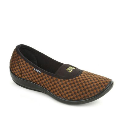 Gliders Women's Golden Casual Ballerina (FB-003) No