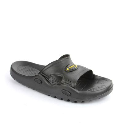 A-Ha Men's Black Bin Slippers (GLD.BEACHN) No