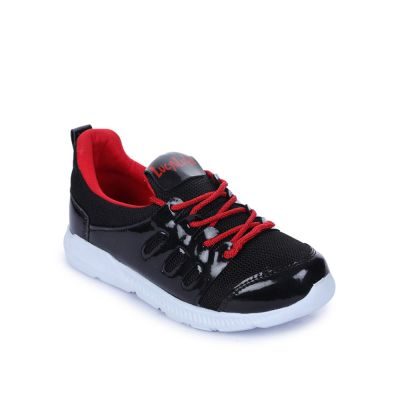 Force 10 Kids Black Sports Lacing (KPL-13) No