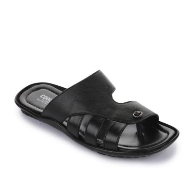 Coolers Men's Black Formal Slippers (LAF-0226) No