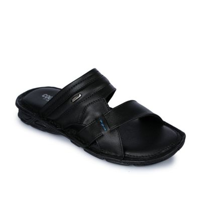 Coolers Men's Black Casual Slippers (LPC-4) No