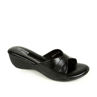 Senorita Women's Black Comfort Slippers (LT-121) No