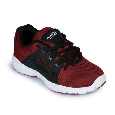 Force 10 Men's Maroon Sports Non Lacing (PDM-17) No