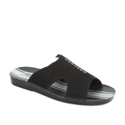 A-Ha Men's Black Casual Slippers (PLATY) A-HA