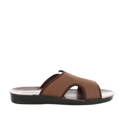 A-Ha Men's Brown Casual Slippers (PLATY) A-HA