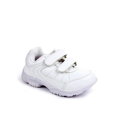 Force 10 Kids White School Non Lacing (SCHZONE-DV) No
