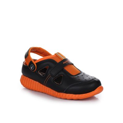 Footfun Kids Black Casual Sandal (TIM-1) Footfun