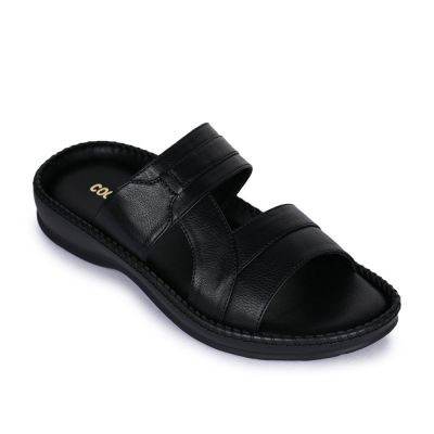Coolers Men's Black Casual Slippers (K2-01) No