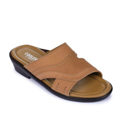 Coolers Men's Brown Formal Slippers (7153-40) No