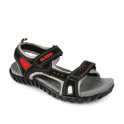 Gliders Men's Black Casual Sandal (DAVIS) No