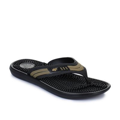 A-Ha Men's Black Bin Slippers (ACCUPLUS-1) No